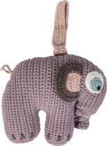 Sebra - Gehaakt muziekdoosje olifant - pastel lila