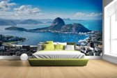 Fotobehang vinyl - Rio de Janeiro landschap breedte 380 cm x hoogte 265 cm - Foto print op behang (in 7 formaten beschikbaar)