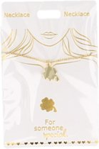 Ketting Klavertje 4, gold plated