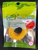Anti-muggen armband Geel
