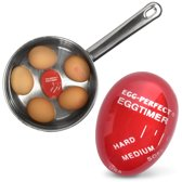 United Entertainment Fool Proof Egg Timer - Kookwekker - Rood