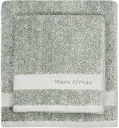 Marc O'Polo Melange  Washandje - 16x22 - Green/off white