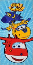Super Wings 3 hero's - Strandlaken - 70 x 140 cm - Multi
