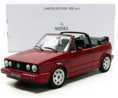 Volkswagen Golf I Cabriolet 1992 Classic Line Rood 1-18 Norev