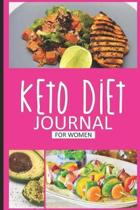 Keto Diet Journal For Women: Keto Diet Planner Journal, 12 Week Daily Log Book, 90-Day Diet & Nutrition Diary, Meal Tracker Notebook for Weight Los