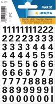 Stickervel cijfers zwart 10mm 71x