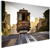 Tram San Francisco Glas 60x40 cm - Foto print op Glas (Plexiglas wanddecoratie)