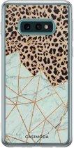 Samsung Galaxy S10e siliconen hoesje - Luipaard marmer mint