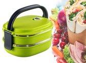 Lunchbox - stapelbaar - luchtdicht - groen