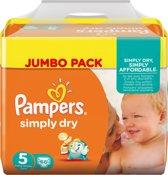 Pampers Simply Dry maat 5 330 stuks