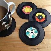 Retro Vinyl onderzetters 4 stuks – Vinyl Coaster