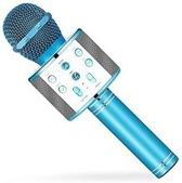 Karaoke microphone Draadloos blauw, Bluetooth Microfoon