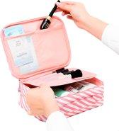 Eyzo Make-up tasje - Tas met Vakjes, Waterdicht, Multifuctioneel - Cosmetische Reistas / Toilettas Roze