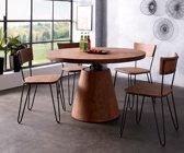 Keukenstoel Veruca Acacia bruin massief houten frame zwart eetkamerstoel