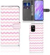 Samsung Galaxy S20+ Telefoon Hoesje Waves Roze