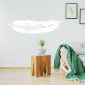 Muursticker Tribal Love -  Wit -  160 x 43 cm  - Muursticker4Sale