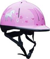 Red Horse Ruitercap Rider Meisjes Roze Maat S/m