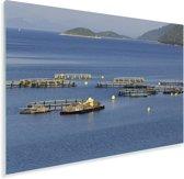 Vissers in de Adriatische zee bij het Nationaal park Mljet Plexiglas 90x60 cm - Foto print op Glas (Plexiglas wanddecoratie)