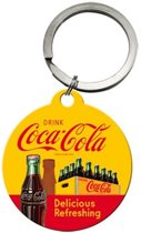 Coca cola - Bottles sleutelhanger ,Delicious Refreshing,  Amerika USA, Metaal