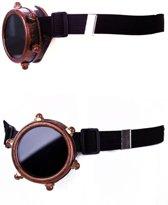 Steampunk bril monocle koper kleurig