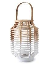 Riviera Maison Ocean Resort Lantern - Windlicht - wit - Bamboe