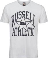 Russell Athletic - Men USA Short Sleeve Crewneck Tee - Heren - maat S