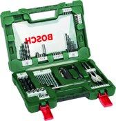 Bosch V-Line borenset - 68-delig - Voor hout, metaal en steen - Met mes, magnetisch uitschuifbare pen en haakse multifunctionele bithouder