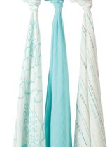 Aden + Anais Bamboo Swaddle 3-pack Azure