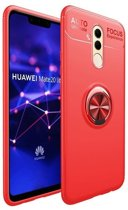 Teleplus Huawei Mate 20 Lite Ultra Soft Ravel Ring Silicone Case Red + Nano Screen Protector hoesje