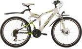 Ks Cycling Fiets 26 inch mountainbike, fully-ATB Zodiac met 21 versnellingen wit-groen - 48 cm