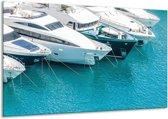Glas schilderij Boot, Water | Wit, Turquoise | 120x70cm 1Luik | Foto print op Glas |  F007198