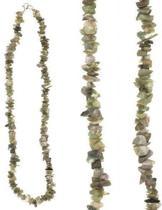 Splitketting Agaat mos - Collier