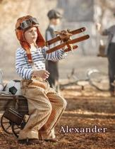 Alexander: Personalized Book with Name, Notebook, Journal, Diary, 105 Lined Pages, 8 1/2 x 11