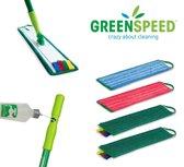Greenspeed Sprenkler dweilset & 4 microvezel vlakmoppen