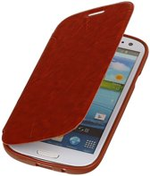 Bestcases Bruin TPU Booktype Motief Hoesje Samsung Galaxy S3