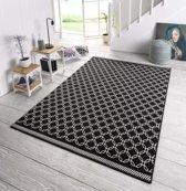 Design vloerkleed Chain - zwart/crème 160x230 cm
