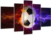 Glasschilderij Spel | Blauw, Rood, Oranje | 170x100cm 5Luik | Foto print op Glas |  F004712