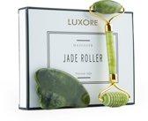 Luxore® Jade Roller Gezichtsmassage Roller - Met Gua Sha Schraper - Groene Kwarts