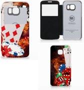 Samsung Galaxy S6 Edge Wallet Case met Pasjes Casino