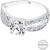 Elli Ringen 925 Sterling Zilver Glamoureuze Swarovski® Kristal