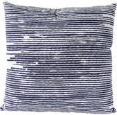 Sierkussen decoratie kussen Knit 45 x 45 cm blauw wit