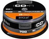 "CD-R Intenso 700MB 25pcs Cakebox ""printable inkjet"" 52"