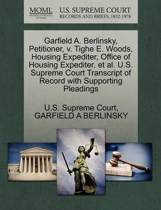 Garfield A. Berlinsky, Petitioner, V. Tighe E. Woods, Housing Expediter, Office of Housing Expediter, Et Al. U.S. Supreme Court Transcript of Record with Supporting Pleadings
