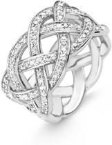 Ti Sento Milano 12026ZI Ring - Ring met stenen - Zilver witgoudverguld