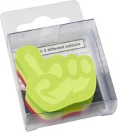 info shaped sticky notes 50x50mm hand assorti 225 vel