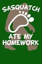Sasquatch Ate My Homework