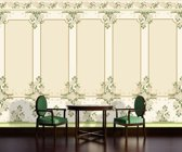 Green   Crème Photomural, wallcovering