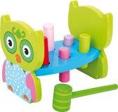 """Houten hamerbank voor kinderen - """"Uil"""" - Houten speelgoed vanaf 1 jaar"""