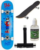 Enuff Skateboard MINI + Onderhoudspakket - Skully Blue