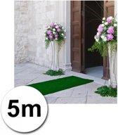 5 meter groene loper 1 meter breed